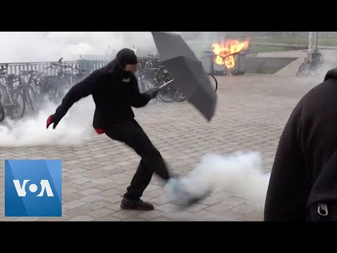 Police Fire Tear Gas at French Protesters During Nationwide Strike