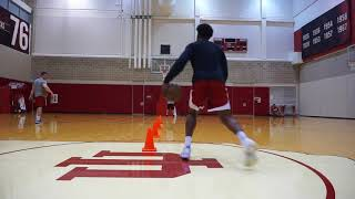 IU BASKETBALL Freddie McSwain Workout with Professional Skills Coach TAYLOR WAYER - Highlights