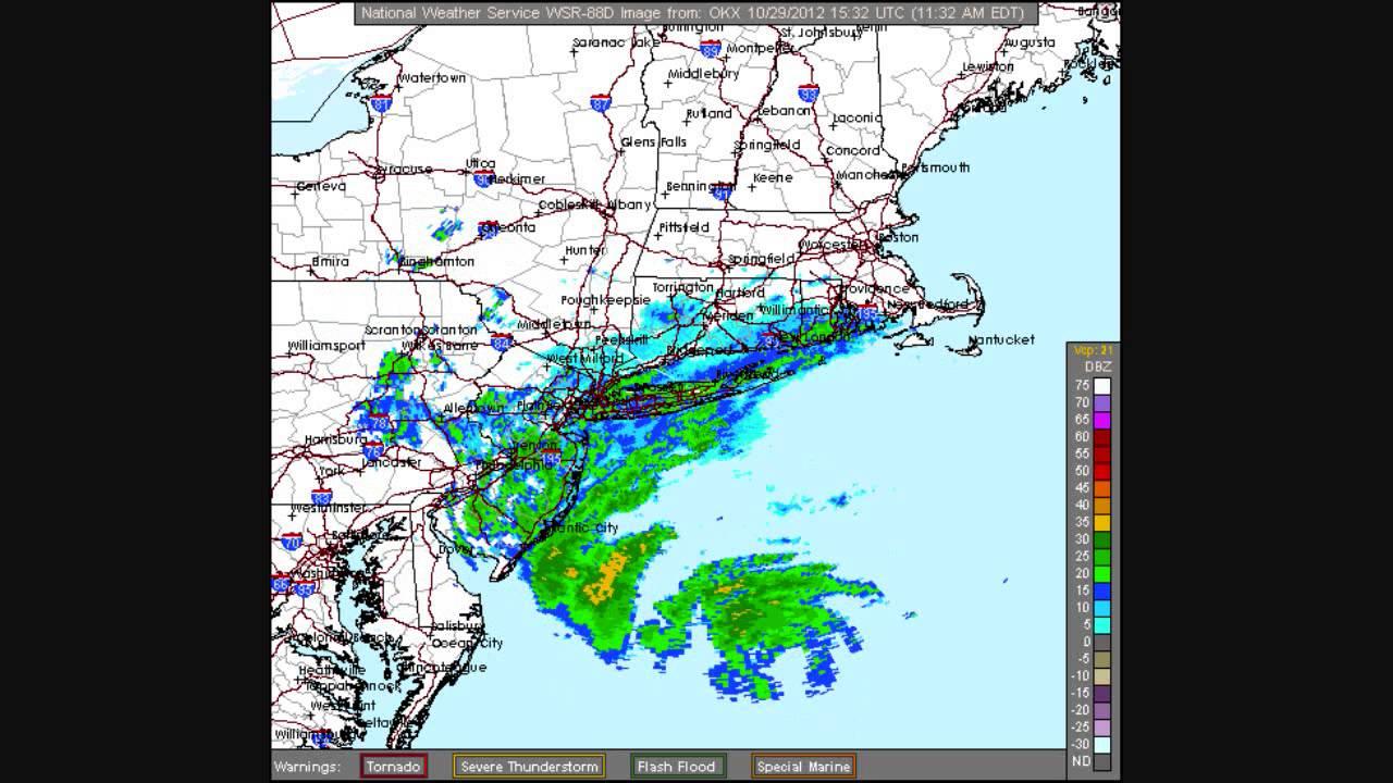 Hurricane Sandy Landfall Radar Loop KOKX Upton New York YouTube - Doppler radar buffalo new york