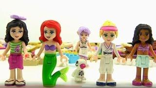 Lego. Видео для детей. Собираем из конструктора Лего пляжный домик.(Лето закончилось, а вы скучаете по пляжу? Устроим вечеринку! Собираем из конструктора Лего Френдс пляжный..., 2015-11-05T04:03:57.000Z)