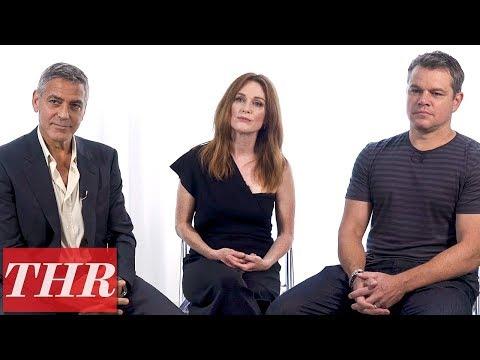 George Clooney, Julianne Moore, & Matt Damon on Filming Through Trump's Election   THR