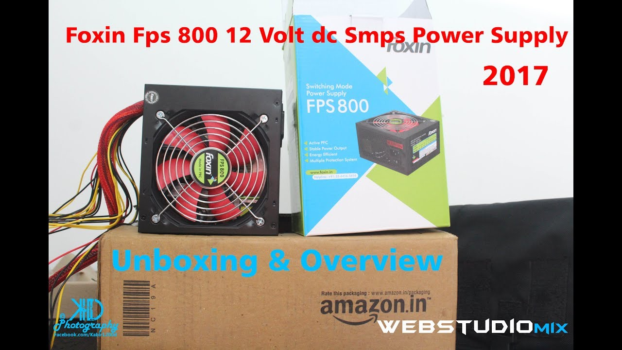 Foxin Fps 800 12 Volt Dc Smps Power Supply Unboxing Overview In Atx Circuit Schematic Ml48241 Hindi