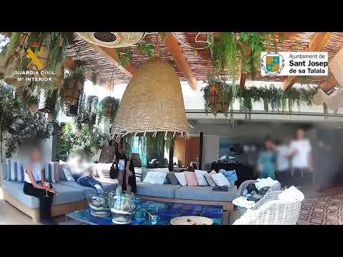 Fiesta ilegal en una mansión de Ibiza