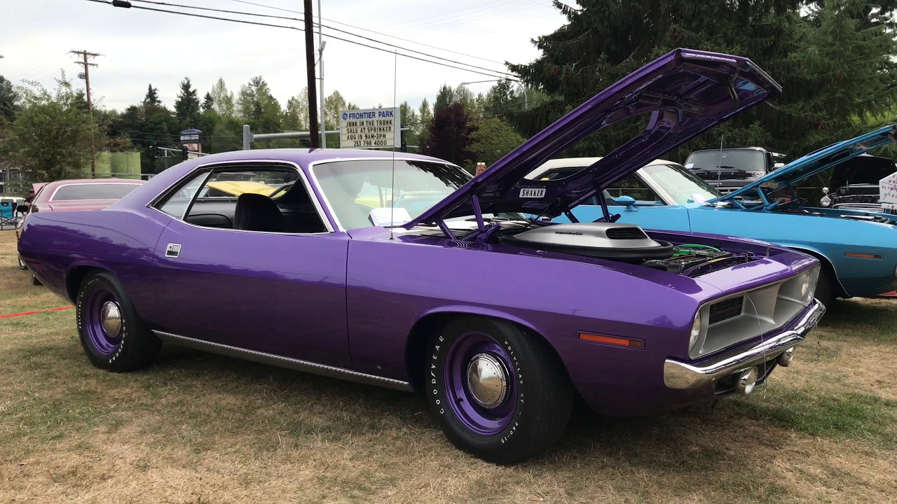 Muscle 1 Of 6 Known To Exist In Violet Plum Crazy 1970 426 Hemi 4sd Cuda