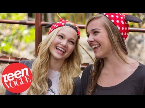 Olivia Holt and Her Bestie Gracie Benward at Disneyland – Besties – Teen Vogue