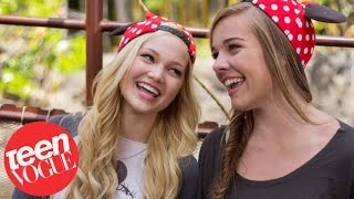 Olivia Holt and Her Bestie Gracie Benward at Disneyland – Besties – Teen Vogue