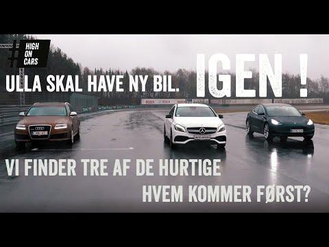 Skal Ulla have en Tesla Model 3, en Audi RS6 eller en Mercedes AMG A45?
