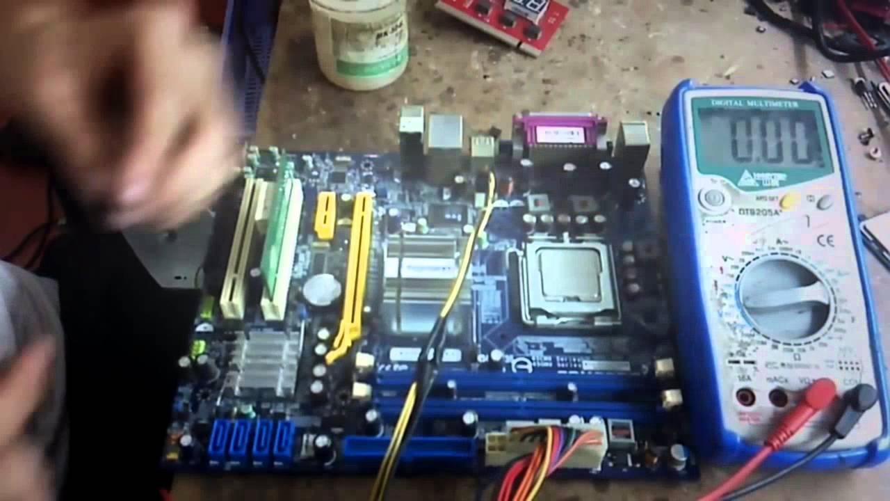 Repair motherboard PC no display