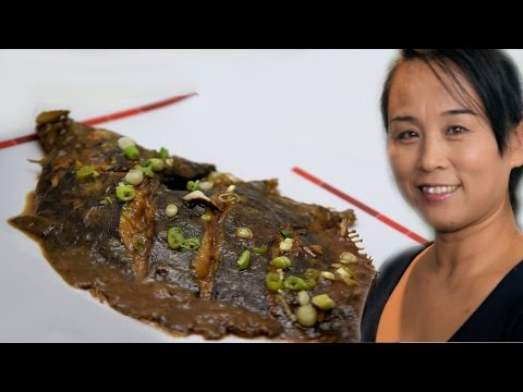 Braised Plaice (Fish) Chinese Style Seafood Cooking Recipe