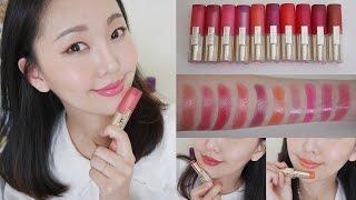 [AD] 高CP值 L'Oréal花漾誘色水唇膏10色全試色+心得分享 / 開架唇彩推薦!