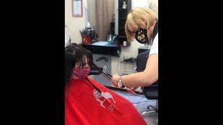 Как делается женская стрижка Lux ТОП мастер Татьяна салон красоты La Familia salon в центре Броваров