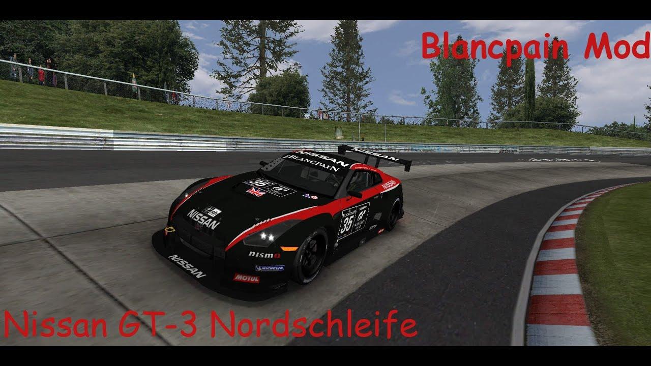 Rfactor blancpain endurance series 2012 nordschleife nissan gt r gt3 untertitel