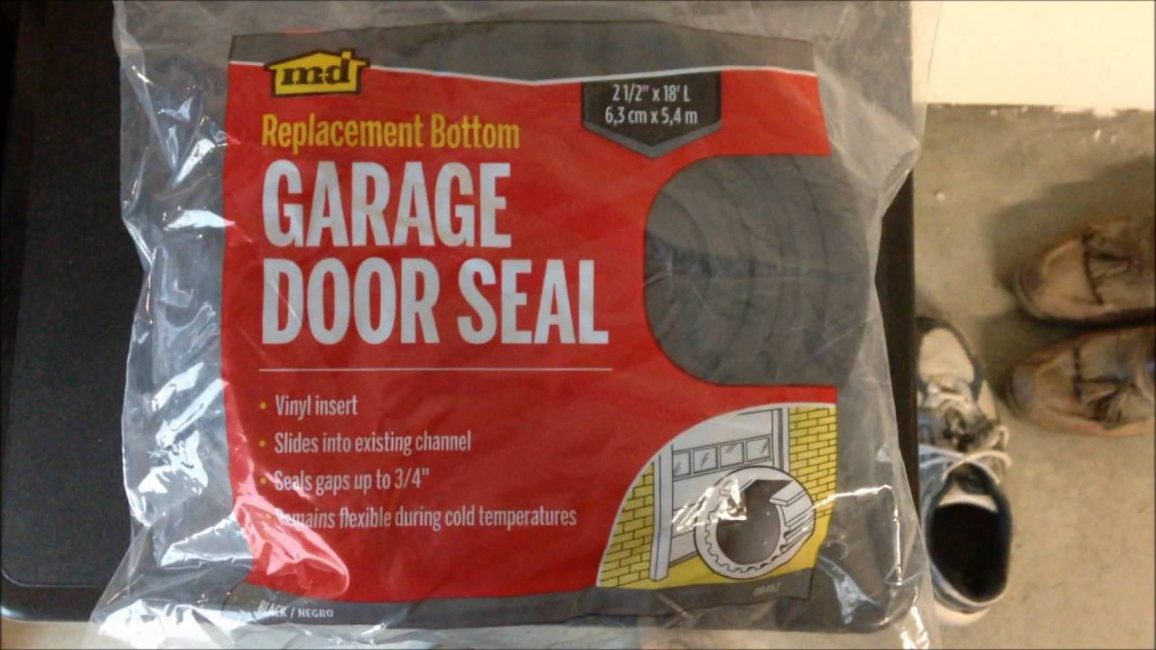 How To Diy Replace Bottom Door Seal On Garage Door Installs Easy