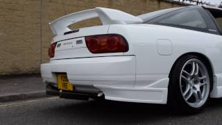 jdm kyodai white 180sx type x sr20 det exhaust sound