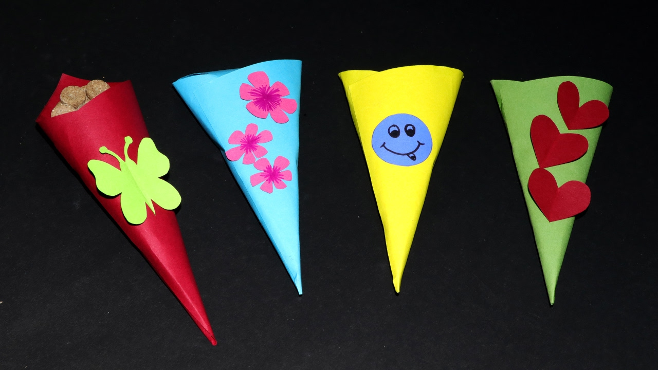 Fun paper crafts for kids paper cone toffee case very simple fun paper crafts for kids paper cone toffee case very simple easy jeuxipadfo Image collections