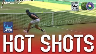Hot Shot: Kudla Shows Off Court Coverage, Ends With Winner at Halle 2018