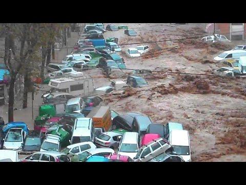 Devastating flood reigns in Tetouan. Flash flood in Morocco 2021