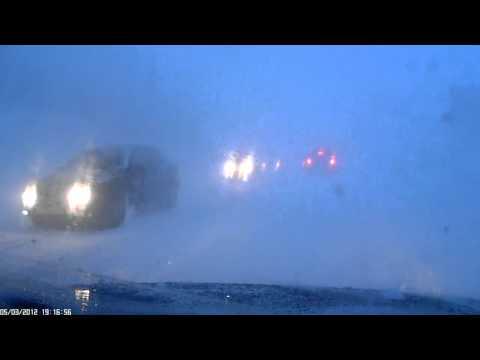 страшный буран шторм на трассе североморск- мурманск
