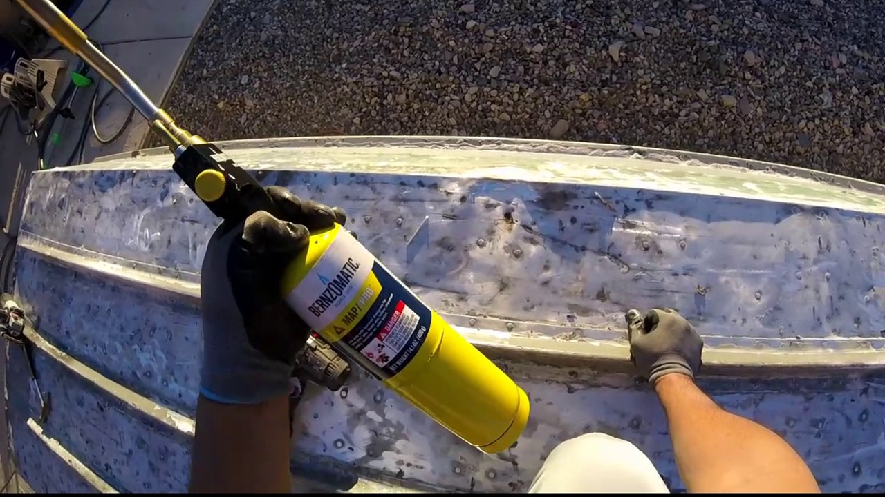 Repairing Damaged Cracked Aluminum Jon Boat Hulls Youtube