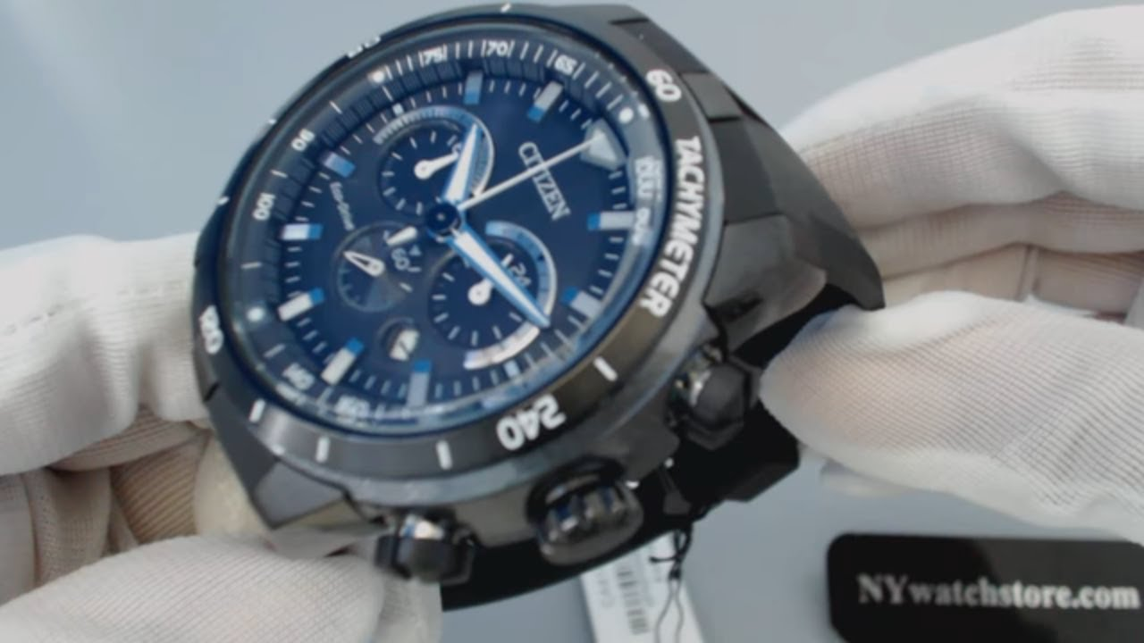 d11e44150 Men's Black Citizen Eco Drive Chronograph Solar Watch CA4157 09E ...
