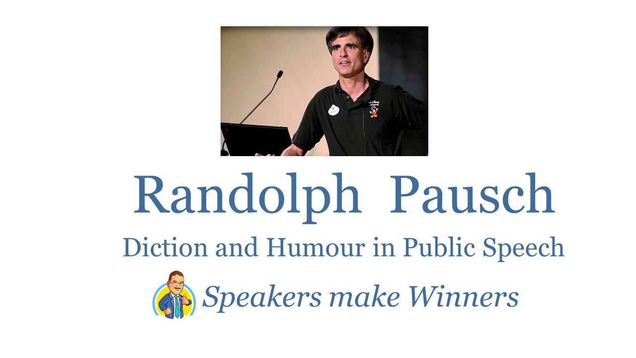 randy pausch speaking skills essay