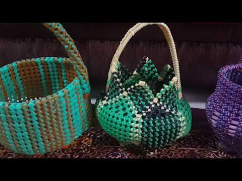 M.k.Plastic Wire Works (My Different  Pooja Basket Designs)