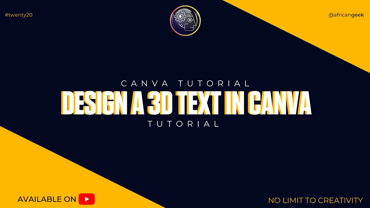 Canva Tutorial for beginners - Design 3D Text in Canva