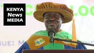 Raila Odinga Awarded HONORARY DEGREE at Jaramogi Oginga Odinga University!!!