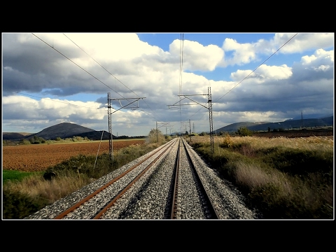 Livadia - Thiva: a relaxing rail route [ driver's eye view ] Nov. 2016