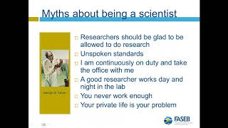 Achieving Work Life Balance in a Scientific Career