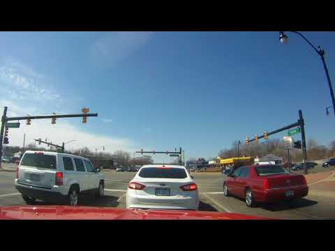 Drive on Ford Rd Dearborn to Canton Michigan 04-02-2014