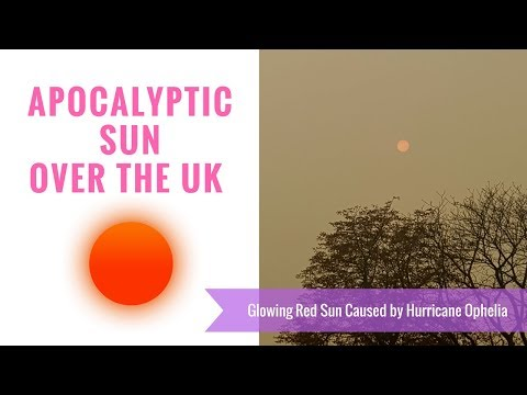 RED SKY OVER LONDON/UK TODAY - 16TH OCT 17 | HURRICANE OPHELIA EFFECTING THE COLOUR OF THE SKY.