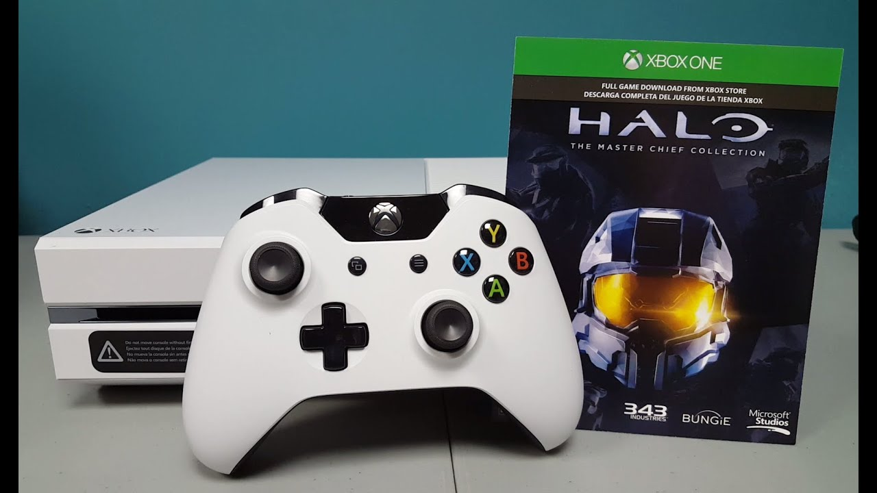 Xbox One White Special Edition Halo The Master Chief Collection Unboxing