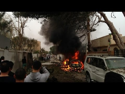 Car bomb hits French Embassy in Libya, 2 guards injured