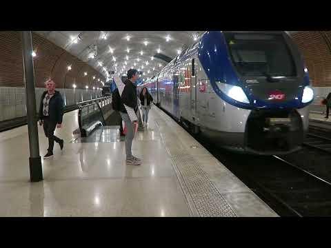 SNCF TER Trains At Monaco Monte Carlo 13 December 2017