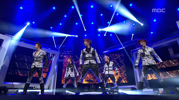 mblaq  this is war    music core 20120211