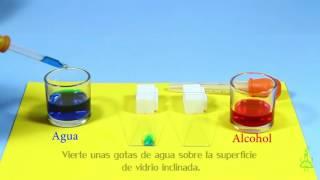 Tobogán para agua y alcohol. Experimentos (Divertiaula).