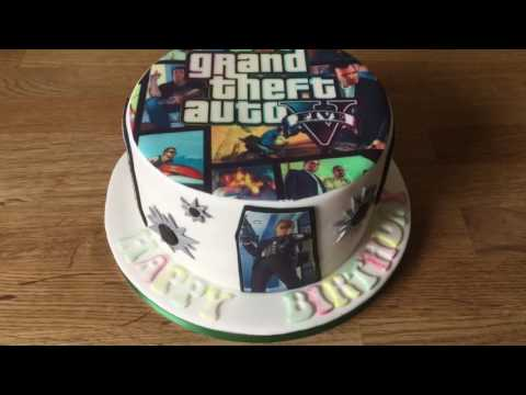 Grand Theft Auto Cake Decorations