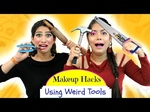 Most FUNNY Makeup HACKS using WEIRD Tools – ऐसा Challenge कभी ना देखा होगा | Anaysa