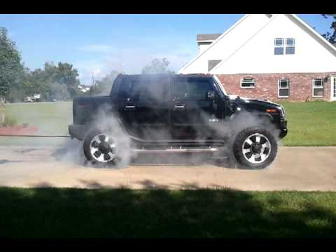 Hummer H2 towing a tow truck with duramax loaded - YouTube