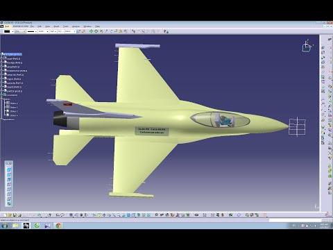 Catia V5 Tutorial |How to design an Aircraft on Catia- F16 Fighter jet | part 1