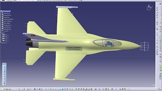 Catia V5 Tutorial  How to design an Aircraft on Catia- F16 Fighter jet   part 1