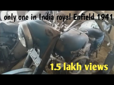 1941 model royal Enfield only one bike in India
