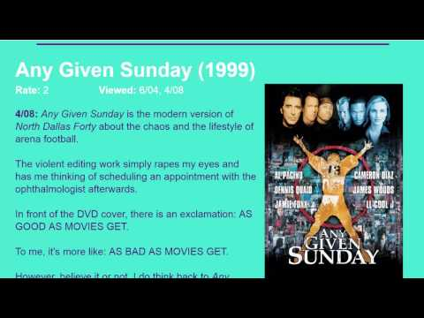 Movie Review: Any Given Sunday (1999) [HD]