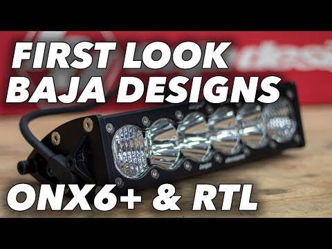 Baja Designs OnX6+ & RTL Light Bar First Look   The SXS Guys