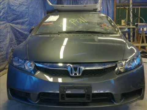 Восстановление авто после аварии Honda