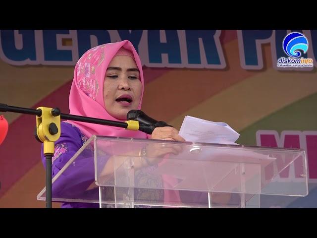 BUNDA PAUD LAMSEL HADIRI GEBYAR PAUD TINGKAT KABUPATEN LAMSEL TAHUN 2018