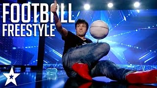 Insane Football Freestyle Skills on Got Talent  Got Talent Global