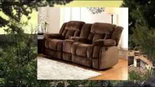 Homelegance 9636-2 Laurelton Textured Plush Microfiber Dual Glider Recliner Love Seat With Console