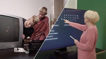Oma vs. Enkel: Smart TV oder Röhrenfernseher?